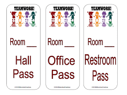 Teaching Ideas Games And More Hall Passes
