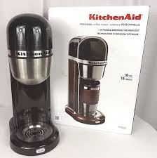 kitchenaid personal coffee maker machine black kcm04020 one touch brewing