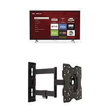 Tcl 43s305 43 Inch 1080p Roku Smart Led Tv 2017 Model And Amazonbasics Heavy Duty Full Motion Articulating Tv Wall Mount For 22 Inch To 55 Inch Tvs