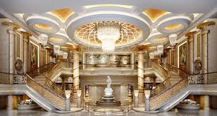 luxurious stairs in art gallery 3d model max fbx 1