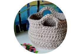 Free Crochet Basket Patterns Impressive Crochet In Color Chunky Crocheted Basket Pattern