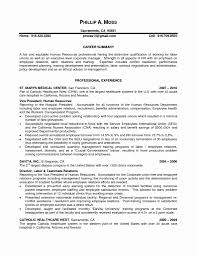 Human Resources Manager Resume Elegant 20 Human Resources Resume