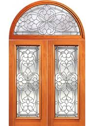 fl scrollwork beveled glass entry double door and round transom 76 75