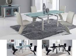 glx d88dt dining table with frosted tempered glass top in beige or black base