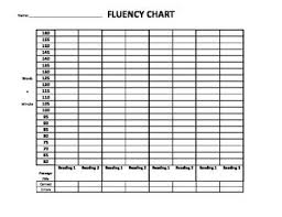 Fluency Chart Up To 160 Wpm Reading Tracker Read 180