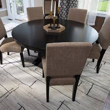 image of proper rug size for dining table