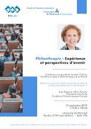 Conférence d'ouverture avec Hilary Pearson - Philanthropie : Expérience et  perspectives d'avenir | Philab | UQAM