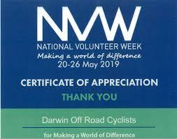 Certificate Of Appreciation Volunteer Work Certificate Of Appreciation Volunteer Week Dorc Darwin