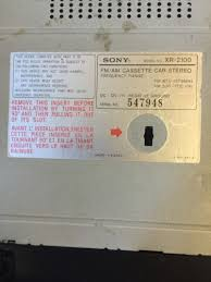 sony xr 2100 am fm cassette car stereo head unit what s it worth sony xr 2100 am fm cassette car stereo head unit