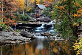 outdoor nature photography. _center_thumbnail_10155.jpg : West Virginia Grist Mill Autumn Outdoor Nature Photography R