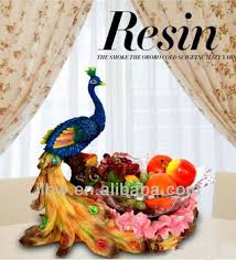 How To Decorate Fruit Tray Highend Resin Peacock Fruit Plate Creative Fruit Tray Home 60