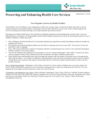 Preserving And Enhancing Health Care Services Sutter
