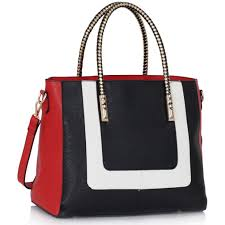 leahward black white red women s large nice great handbags college work tote shoulder bags