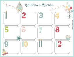 birthday calendar template free download free birthday calendar beautiful calendars templates in birthday