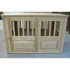wooden dog crates side entry medium wooden dog crate with unfinished wood diy wooden dog crate