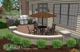 small concrete paver patio design with seat wall 4 small paver patio designs l95
