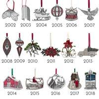 Annual Ornaments Annual Ornaments Danforth Pewter Made In Usa
