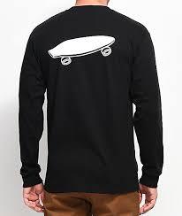 spitfire long sleeve t shirt. vans x spitfire black long sleeve t-shirt t shirt