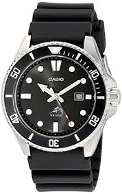 amazon com casio men s mdv106 1av 200m duro analog watch black casio men s mdv106 1av 200m duro analog watch black