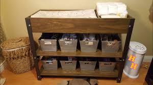 diy baby furniture. Organizing Baby Changing Table - Industrial Furniture For Nursery Idea (DIY) Diy