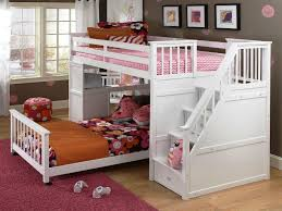 full bunk beds with stairs. Fine Full White Twin Over Full Loft Bed With Stairs In Bunk Beds