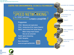 Speed Networking 2018 Centre Environmental Science And Technology