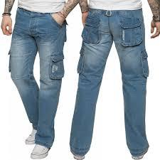 Mens Designer Jeans Size 46 Details About New Enzo Mens Designer Cargo Combat Work Jeans Blue Denim Pants All Waist Sizes