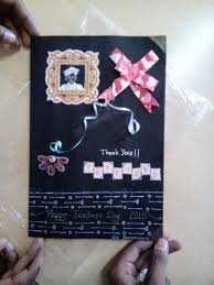 Chart Paper Greeting Card Teachers Day Greeting Card Homemade 6 Steps