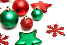 Green and red Christmas ornaments isolated on a white background : Free  Stock Photo ?