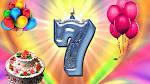 Открытка с днем рождения дочки 7 лет