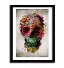 <b>Floral Skull</b> by ALI GULEC - 934 - <b>VINTAGE</b>...