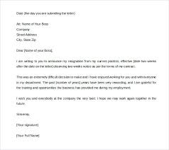One Week Notice Resignation Letter Two Weeks Notice Quitting Job Jasonwang Co