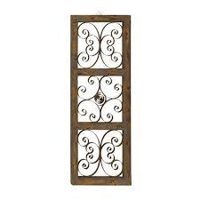 benzara the wonderful wood metal wall panel on iron wall decor amazon with wood and metal wall decor amazon