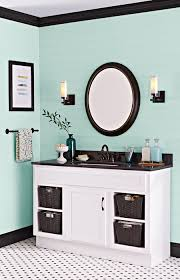 paint gives a dated vanity in good shape a second life for far less than the