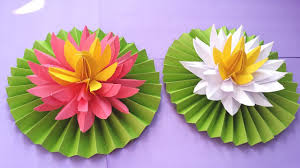 How To Make A Lotus Flower Out Of Paper Diy How To Make Most Beautiful Lotus Water Lily With Paper