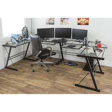 Amazon.com: Walker Edison 3-Piece Contemporary Desk, Multi: Kitchen & Dining