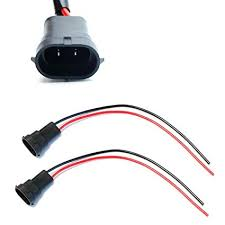 amazon com ijdmtoy (2) h11 h8 880 881 male adapter wiring harness  at Jeep Wj Wiring Harness 2 Yellow Wires