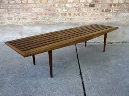 Slatted Coffee Table Vtg Mid Century Modern Slat Bench Coffee Table Danish Design