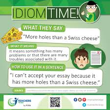 idiom more holes than a swiss cheese teachers to go online  idiom more holes than a swiss cheese