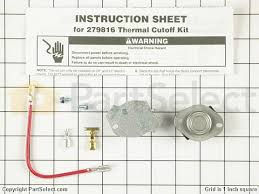 crosley dryer thermostats replacement parts accessories popular crosley dryer thermostats