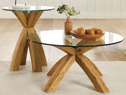 oak and glass coffee table prd furniture