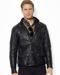 professional wear differs from the commonly perceived office dressing ralph lauren understands the importance of it with lambskin leather jacket