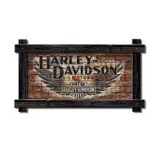 Harley Davidson Signs Decor Nostalgic Faded Brick Ghost Signs Vintage Ad Signs Old Wood Signs 88