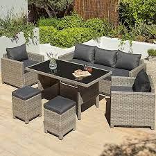 jakarta charcoal 6 piece garden sofa