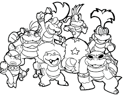 Printable Mario Coloring Pages Super Brothers Coloring Pages Super