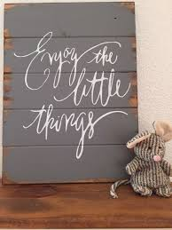 Wood Signs With Quotes Home Decor Enjoy the Little Things Wood Sign Home decor sign pallet sign 2
