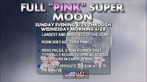Full Moon of April 2021: 'Pink Moon'