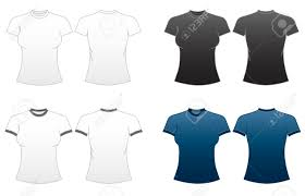 Tee Shirts Templates Womens Fitted T Shirt Templates Series 1 Roundneck And Ringer