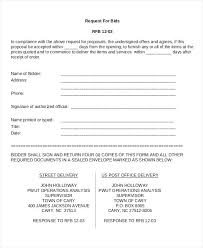 Bid Proposals Compatible Request For Proposal Basic Illustration Or ...