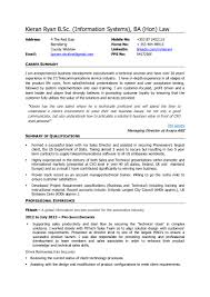 Resume Templates Simple Telecom Sales About Kieran Ryan Cv Business